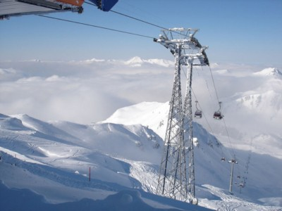 Alpy Sylwester w Alpach na lodowcu